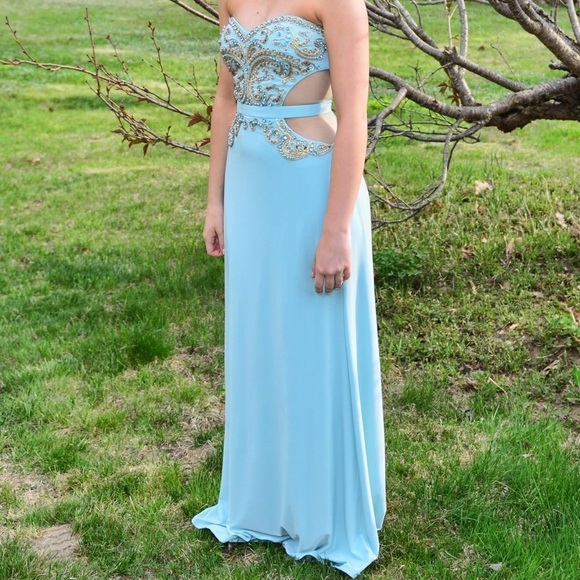 Mignon Dresses | Gorgeous Intricatelybeaded Seafoam Prom Dress ...